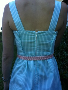 Colette Hazel, size 0, pinned back