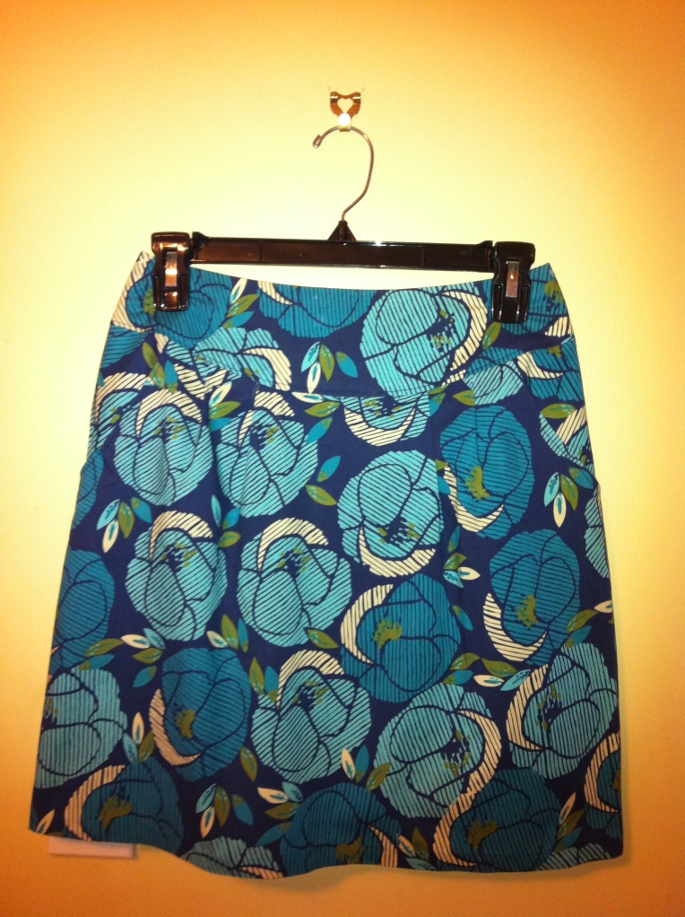 Maytime Markets skirt - 'my' finished skirt using Simplicity 4470