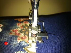 Edge stitching with the specialised Bernina presser foot