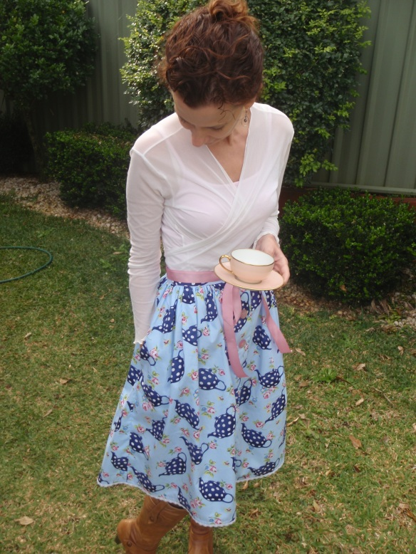 The finished Tea Party Skirt - pockets!