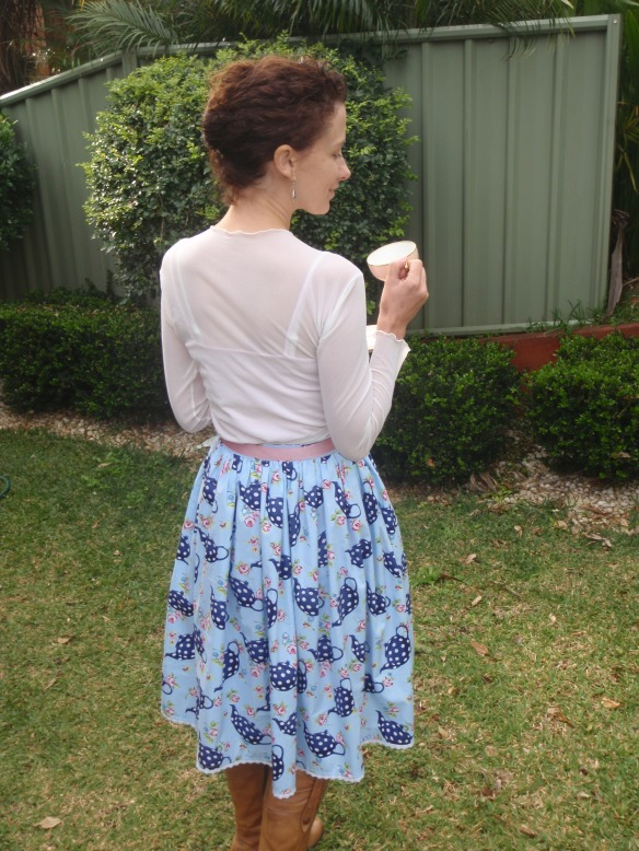 The finished Tea Party Skirt - back view