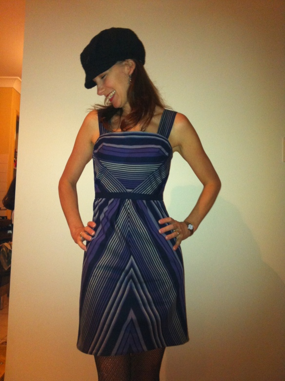Purple Haze'l - pleased with myself - Colette Hazel pattern with a bas cut skirt
