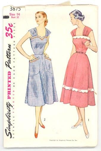 Vintage Simplicity dress - very Cambie-like