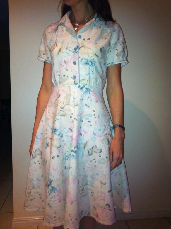 Finished Simplicity 1880 shirt dress without belt