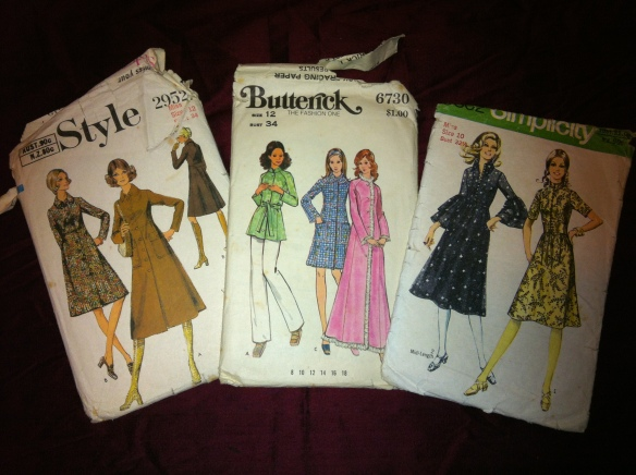 Vintage jackets and dress patterns