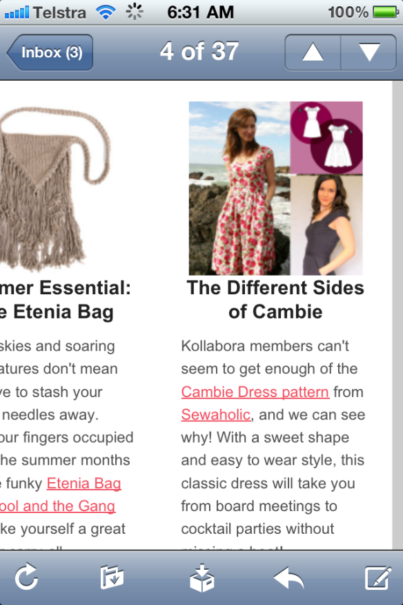 Kollabora email featuring me!