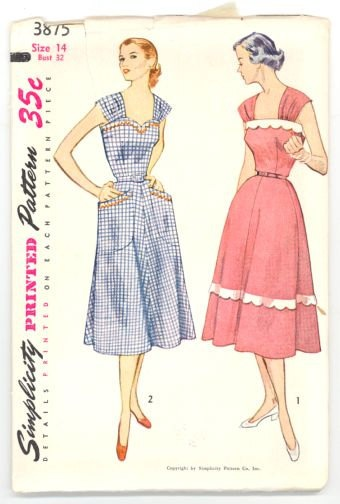 Vintage pattern score Cambie style - Simplicity 3875