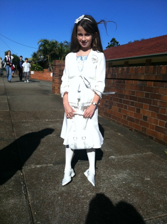 Zoe's first Communion