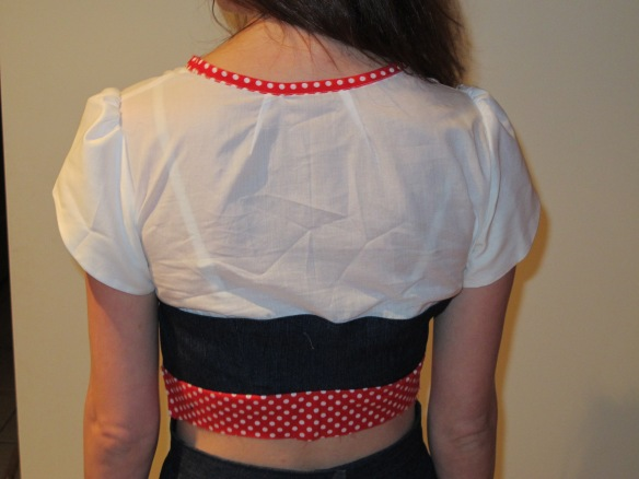 Colette Macaron Muslin bodice - back view