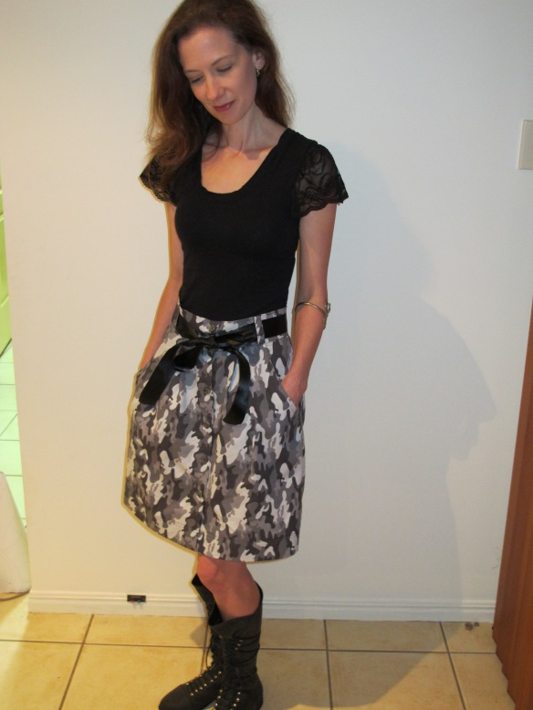 Megan Nielsen's Kelly Skirt in camo