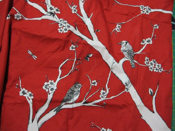 Red cotton voile