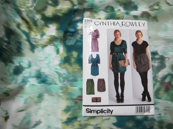 Simplcity Cynthia Rowley - shiny slippery stuff.