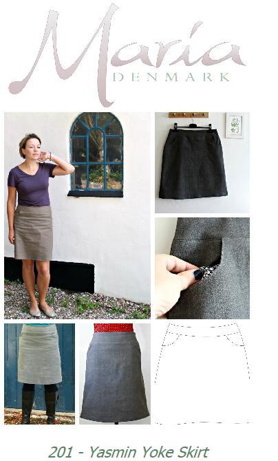 MariaDenmark Yasmin Yoke Skirt pattern