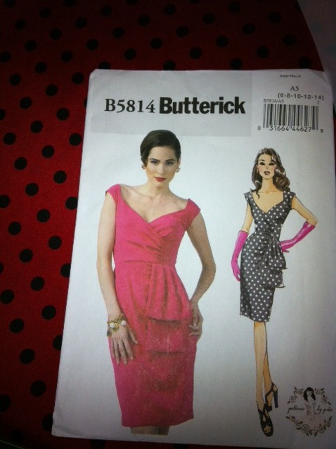 Gertie's Butterick 5814 - pattern and fabric