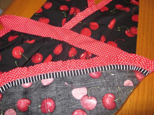 Butterick 5474, view C: Ruffle Kerfuffle, covering the skirt ruffle raw edges.