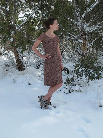 Happy Birthday Vintage Dress - the shoes