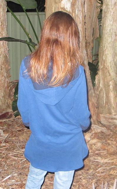 Vogue 8854 hoodie - back view