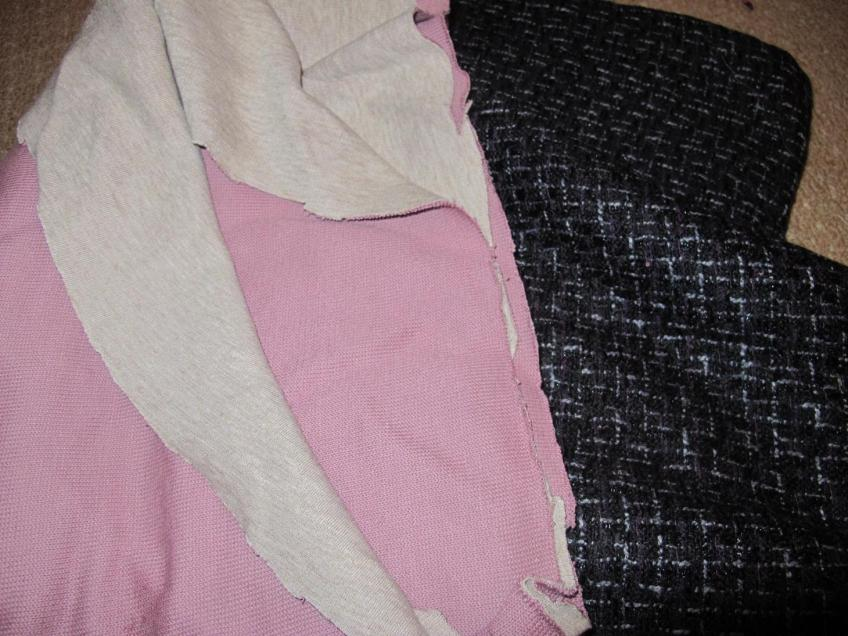 Fabrics from The Fabric Store, Sydney. Double-faced knit and wool!