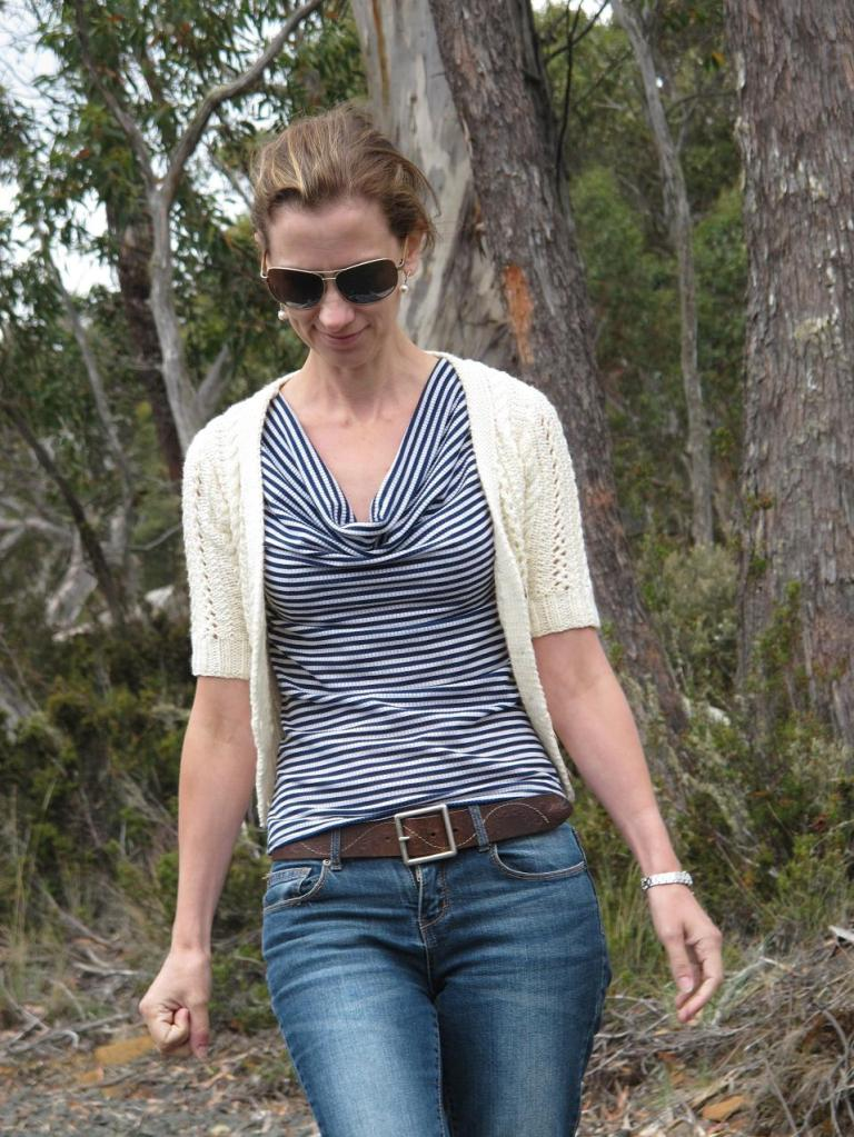 Maria Denmark Day-to-Night Top and Whole Wheat Cardigan from Ravelry