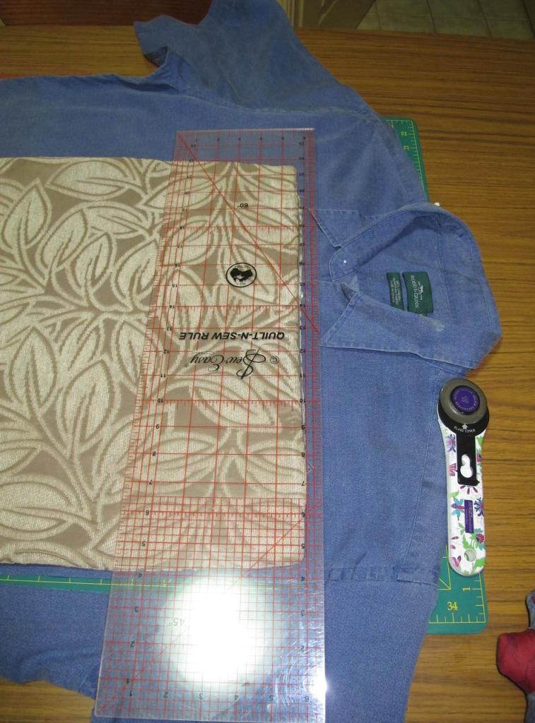 Man Cushions: Cutting out the cover