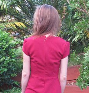 My Little Red Dress back view