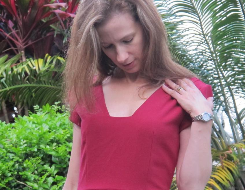 My Little Red Dress - gape!
