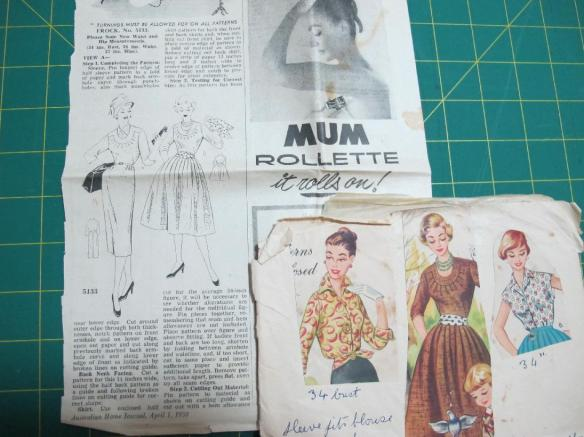 Grandma's patterns - this one is a magazine pattern from Australian Home Journal. I just love that advert!