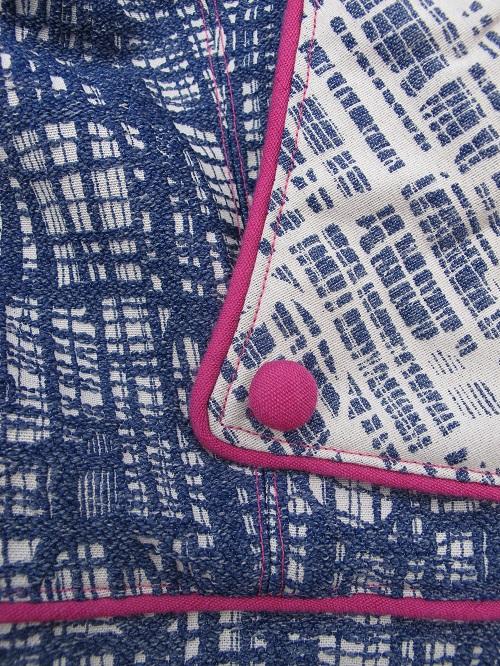 Tessuti Gridlock: lapel, button, piping, topstitching