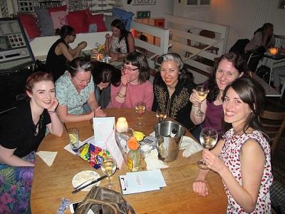 London Dinner: laughing