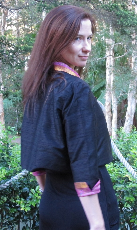 By Hand Victoria Blazer - The Sari Edition back view