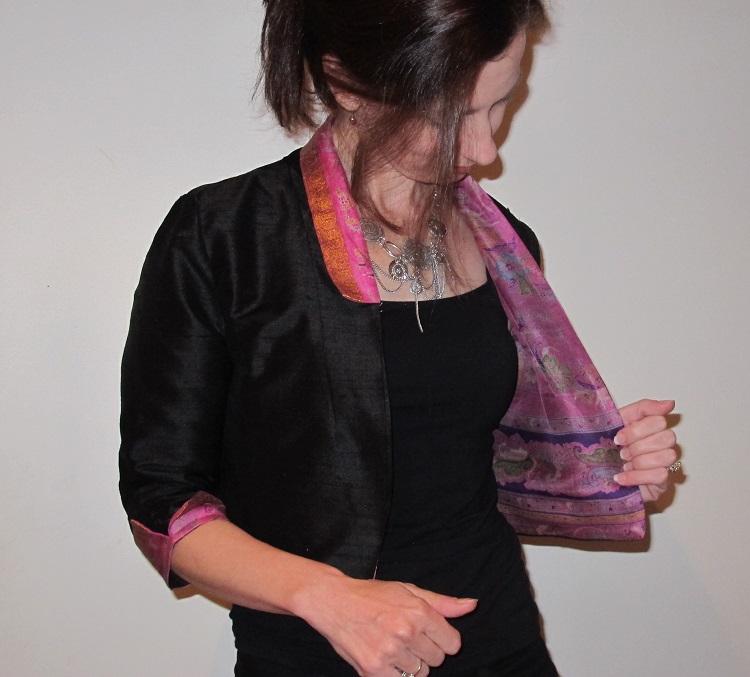 By hand Victoria Blazer - the Sari Edition & lining!