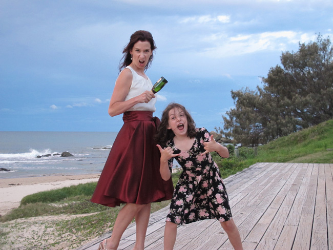 Miss 8 teaches me to party with attitude!
