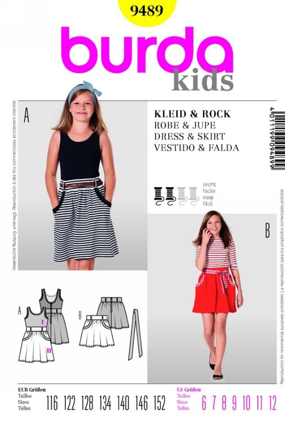 Burda 9489 - skirt & dress