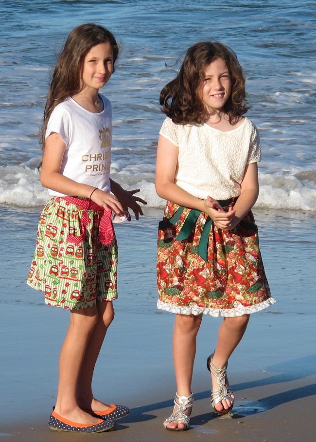Burda 9489 - my gorgeous girls!