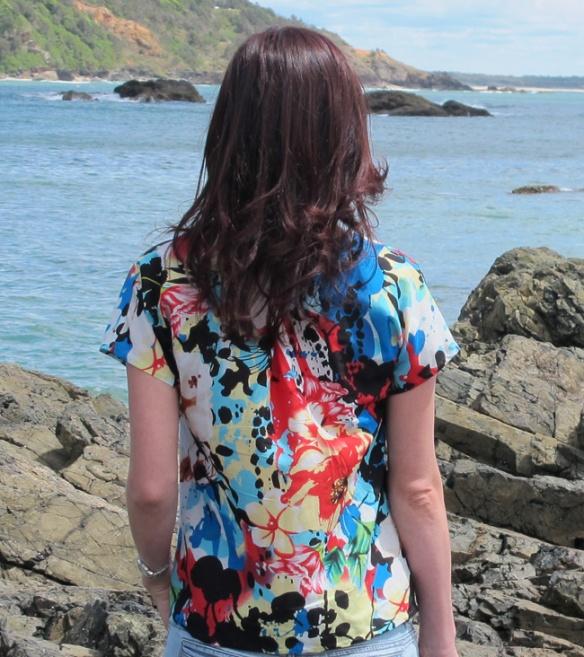 Liesl & Co Getaway Blouse - back view