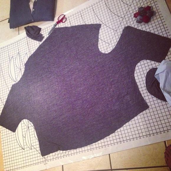 Drape Drape 2: Pattern No 4 Asymmetric Scoop neck shirt