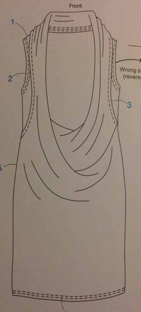 Drape Drape 2: No.6 Three-piece deep cowl neck dress