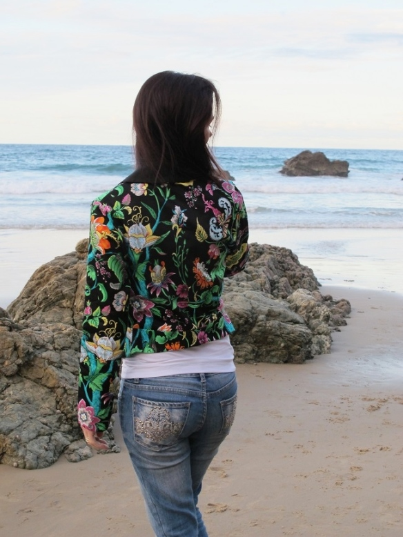 Bellatrix Blazer by Papercut Patterns, back view