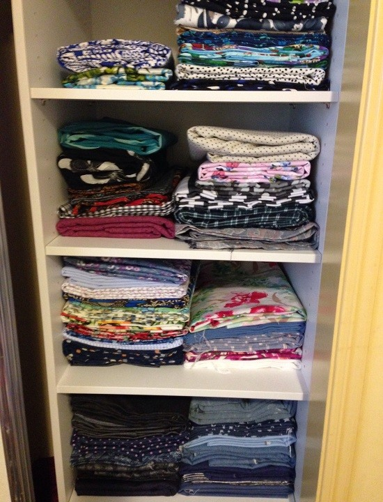 Sewing Room Fabric Stash June 2014