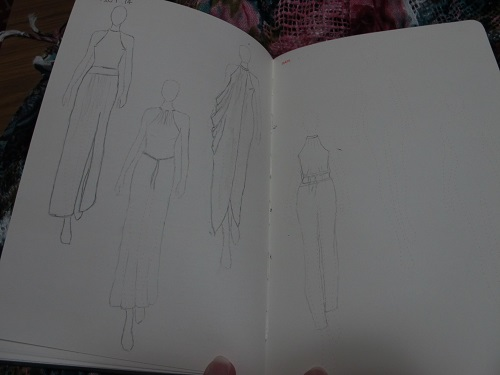 Fashionary A5 - sketches