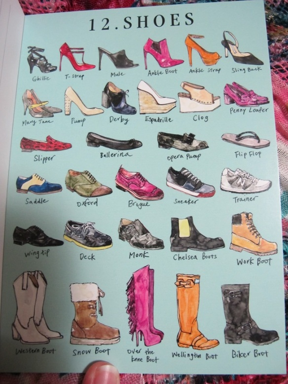Fashionary postcards - shoes