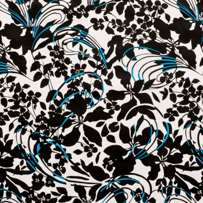 White-Black Lightweight Stretch Cotton Print from Mood Fabrics