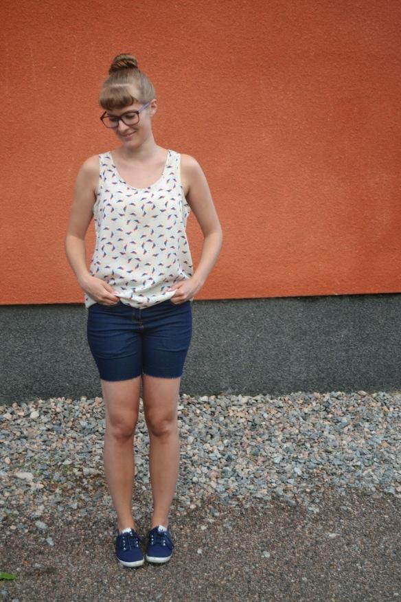 Purple Pleats - Jamie Jeans turned shorts!