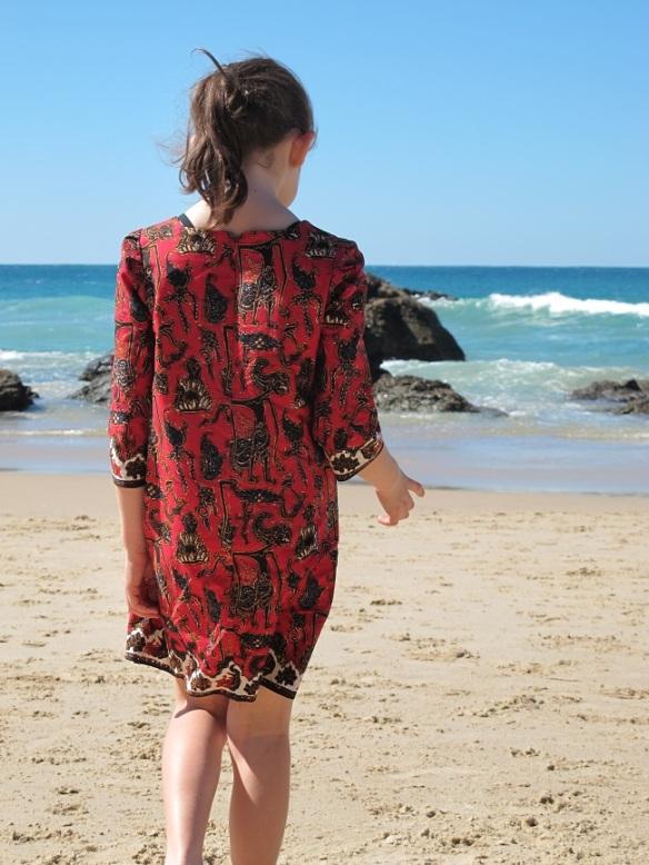 Sunki Dress: back view