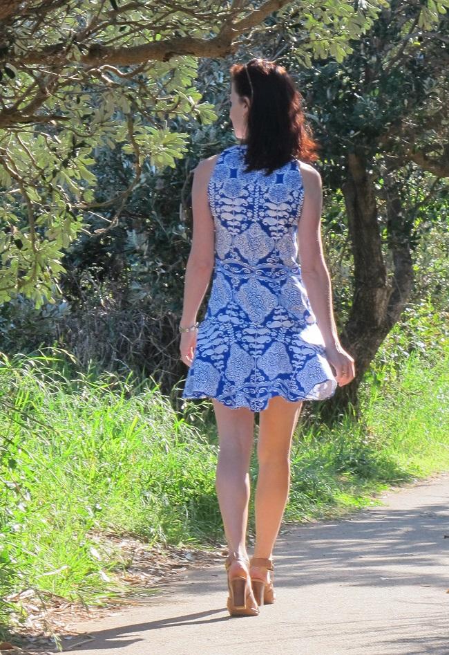 Burda 7056 with Saiph-inspired drop-waist and skirt modification.