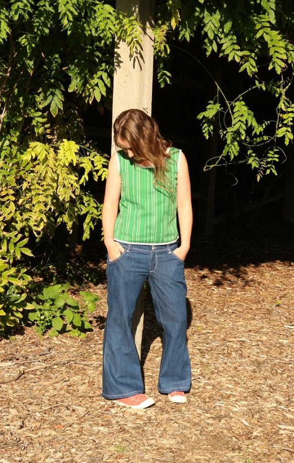 The Angela Wolf Slender Bell Jean by Lindsay - go and check out the pockets!!!