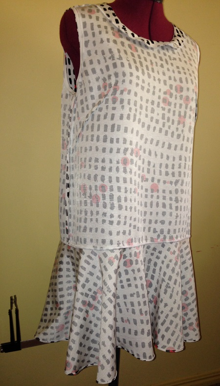 Papercut Saiph Tunic - inside (sorry heading off to Sydney for a shibori workshop - no time to iron! #badblogger)