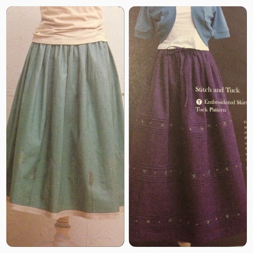 Lovely simple embroidered and pintucked skirts