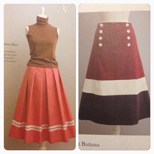 I think the skirt on the left is a classic... however I suspect the nautical style of the skirt on the right will appeal to many!