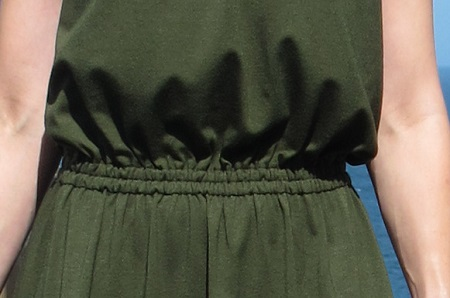 A very simple way to soften a thick elastic waistband- just sew two channels and use thinner elastic. Eliana Dress by Pauline Alice